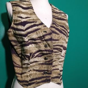80' tiger print vest